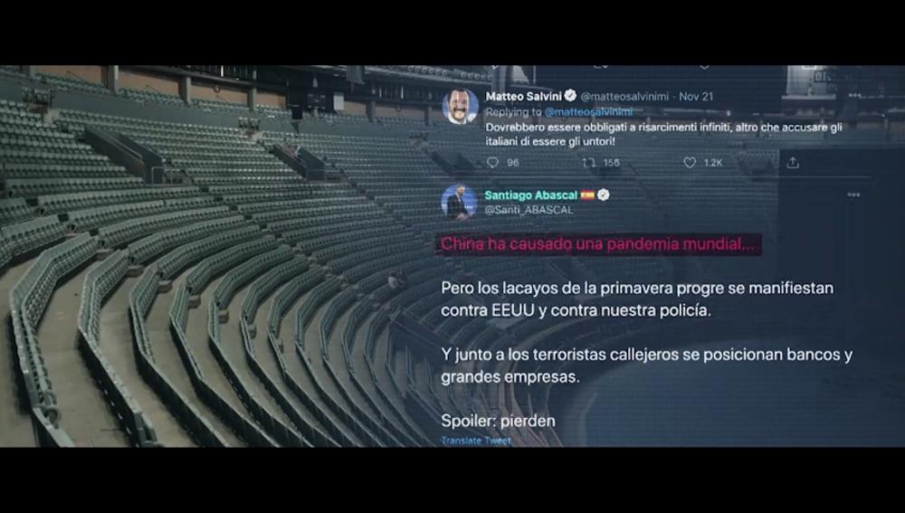 """Los """"patrones comunes"""" de Vox con Trump o Salvini: """"Juntan la pandemia con el enemigo, los migrantes y extranjeros"""""""