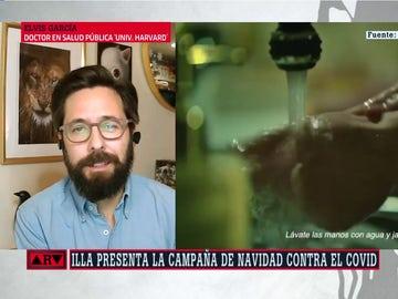 El doctor Elvis García, en ARV