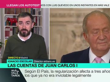 """Ignacio Escolar, sobre la regularización fiscal de Juan Carlos I: """"No es un gesto de ejemplaridad, no se merece el título de emérito"""""""