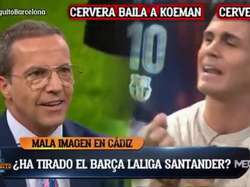 """Tenso cara a cara entre Edu Aguirre y Cristóbal Soria: """"Algunos del Barça parecen exjugadores"""""""