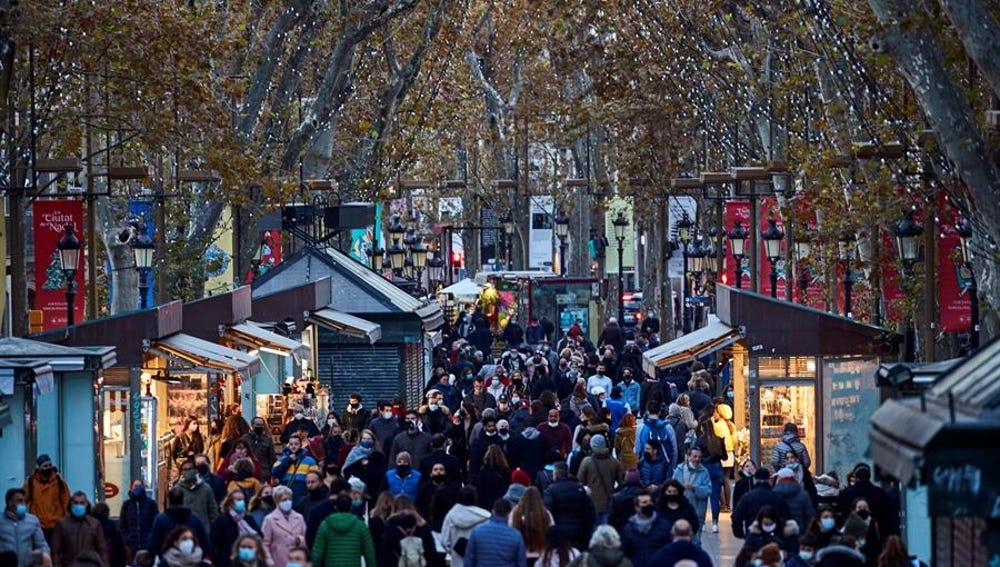 Mercado en Las Ramblas de Barcelona