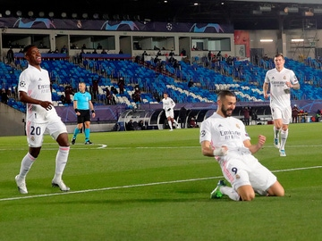Celebración de Karim Benzema