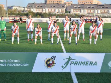 El Rayo Vallecano Femenino en el partido ante el Betis