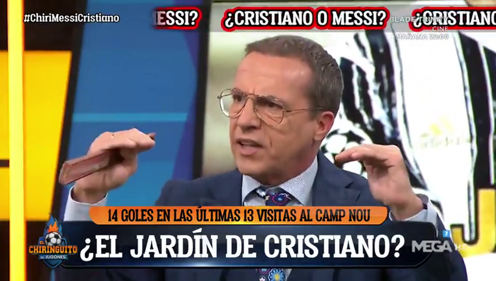 """Cristóbal Soria responde a Edu Aguirre: """"¿Messi y Cristiano en el mismo nivel? ¡Por favor!"""""""