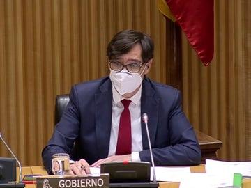 Salvador Illa, ante la Comisión de Sanidad del Congreso