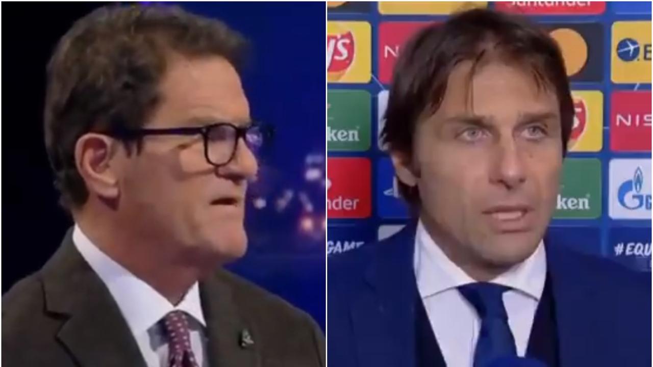 Fabio Capello y Antonio Conte