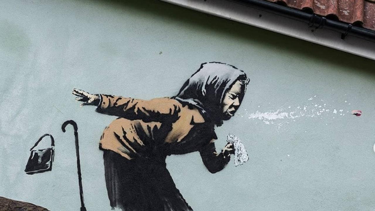 La última pintura del artista, una mujer anciana estornudando.