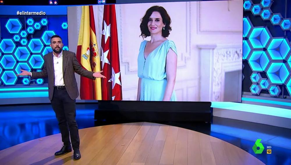 """El análisis de Dani Mateo después de que Ayuso """"se deje la piel"""" para defender a Juan Carlos I: """"No todos somos iguales"""""""