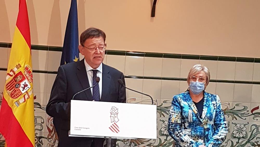 Ximo Puig y la consejera de Sanidad, Ana Barceló