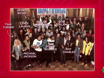 Michael Jackson, Tina Turner, Bob Dylan... analizamos la foto del primer himno solidario: 'We are the world'