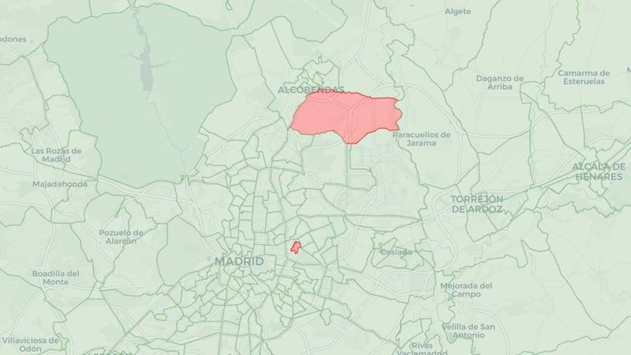 Mapa de restricciones en Madrid