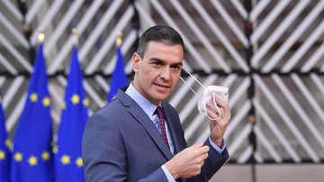 El presidente del Gobierno, Pedro Sánchez, a su llegada a la cumbre europea
