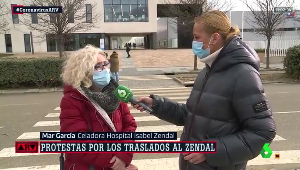 Mar, celadora del Hospital Isabel Zendal