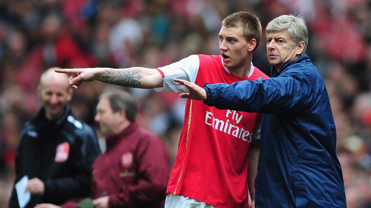 Bendtner y Wenger