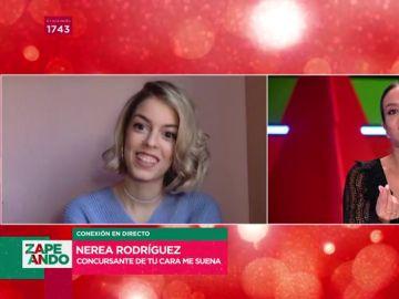 Nerea Rodríguez canta en Zapeando el hit de Miley Cyrus que interpretará en 'Tu cara me suena' este domingo
