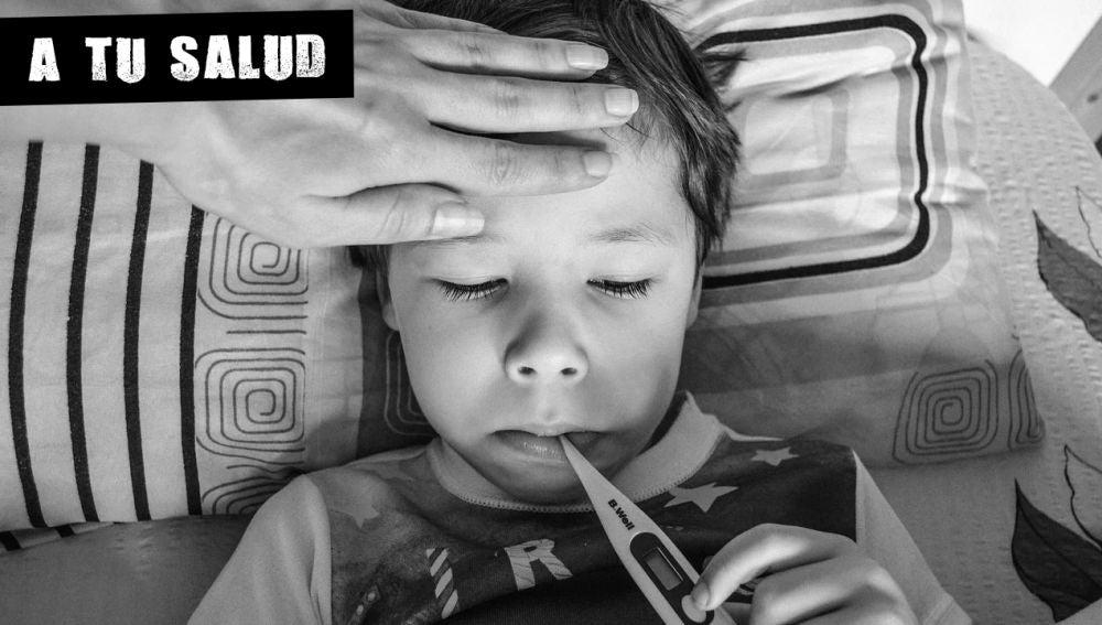 Imagen de archivo de un menor enfermo