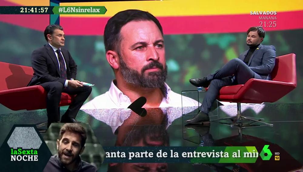 Gabriel Rufián en laSexta Noche
