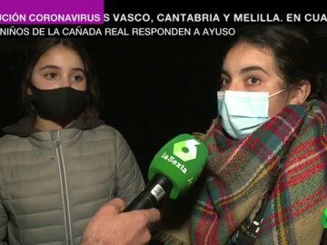"""Los niños de la Cañada Real responden a Ayuso: """"Que venga un día aquí y vea cómo se pasa en casa"""""""