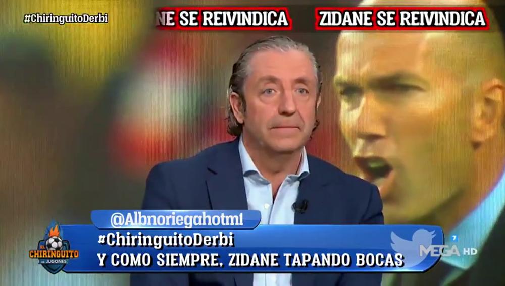 """La confesión de Josep Pedrerol tras el derbi: """"Yo me he confundido y equivocado con Zidane"""""""