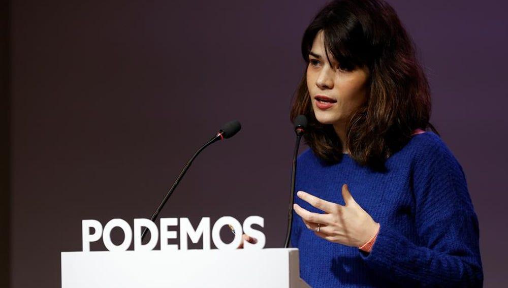 La portavoz de Podemos, Isa Serra
