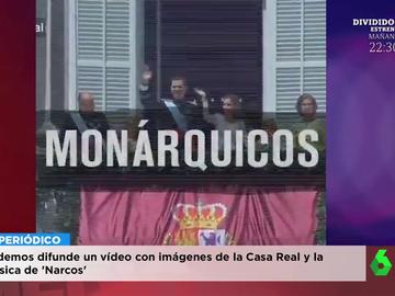 La reacción de Wyoming al ver el polémico vídeo de Podemos en el que equipara a la familia real con 'Narcos'