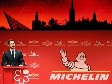 El director internacional de la Guia Michelín, Gwendal Poullennec, durante la presentación de la Guía Michelin España y Portugal 2020.