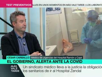 """El doctor Carballo alerta sobre la crecida de la pandemia: """"Vamos a tener un 11-M diario de aquí al 31 de diciembre, y me he quedado corto"""""""
