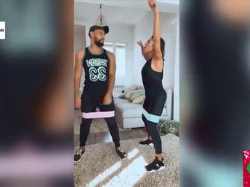 Los divertidos vídeos de Lorena Castell dándolo todo mientras hace deporte que ponen a prueba la paciencia de su entrenador