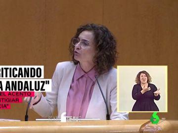 """Montero estalla contra Maroto al pronunciar su """"frase célebre"""" con la palabra 'chiqui': """"Está criticando el habla de Andalucía"""""""