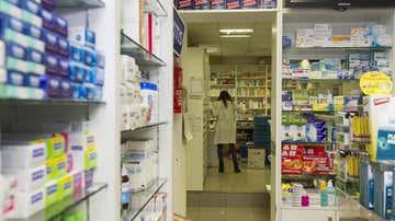 Imagen de archivo del almacén de una farmacia.