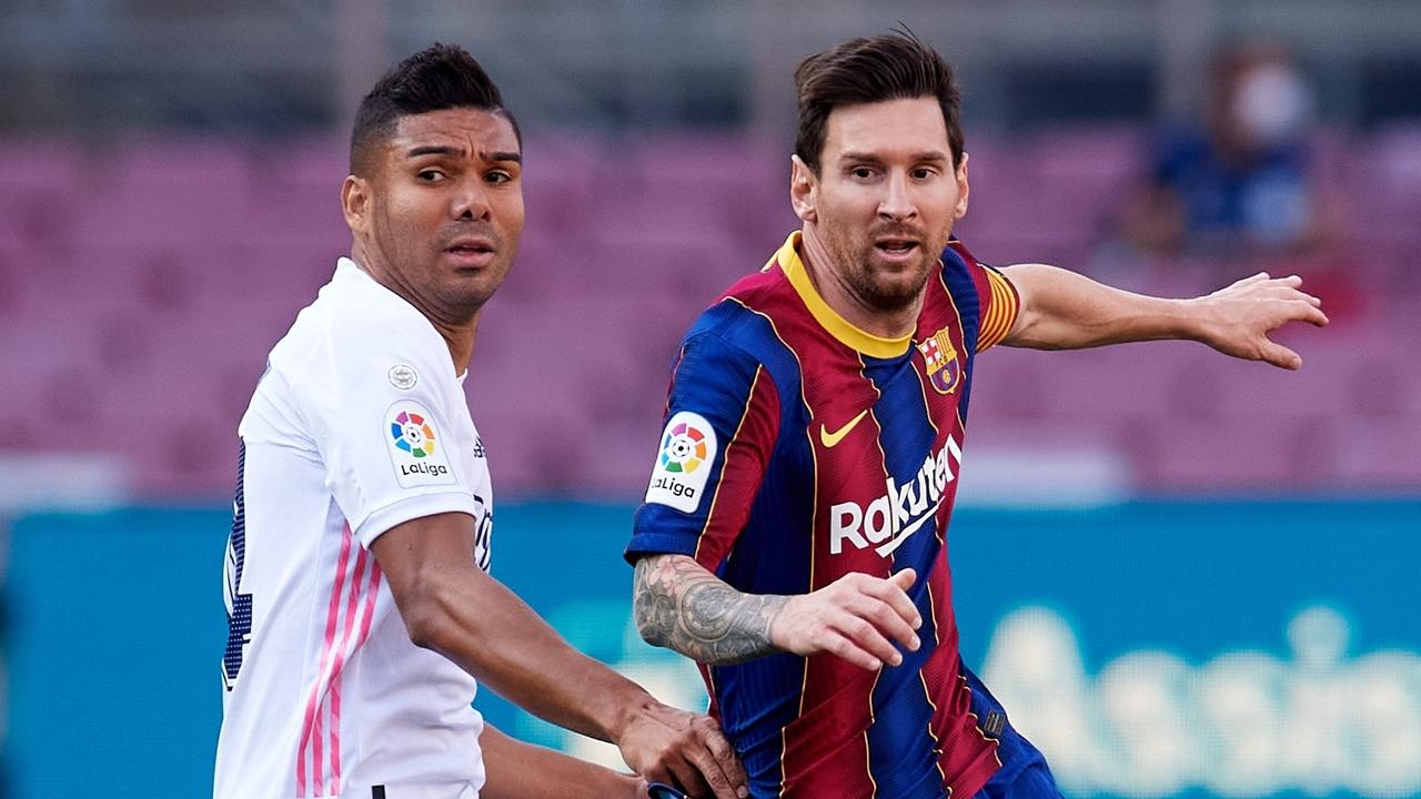 Casemiro, con Messi