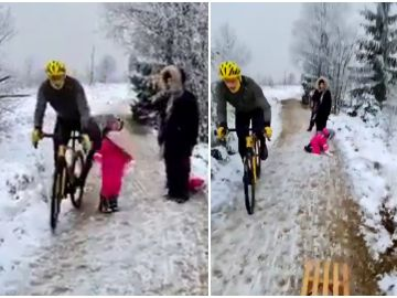 Un ciclista pega un rodillazo a una niña