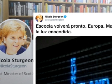 Imagen de un tuit de la primera ministra de Escocia