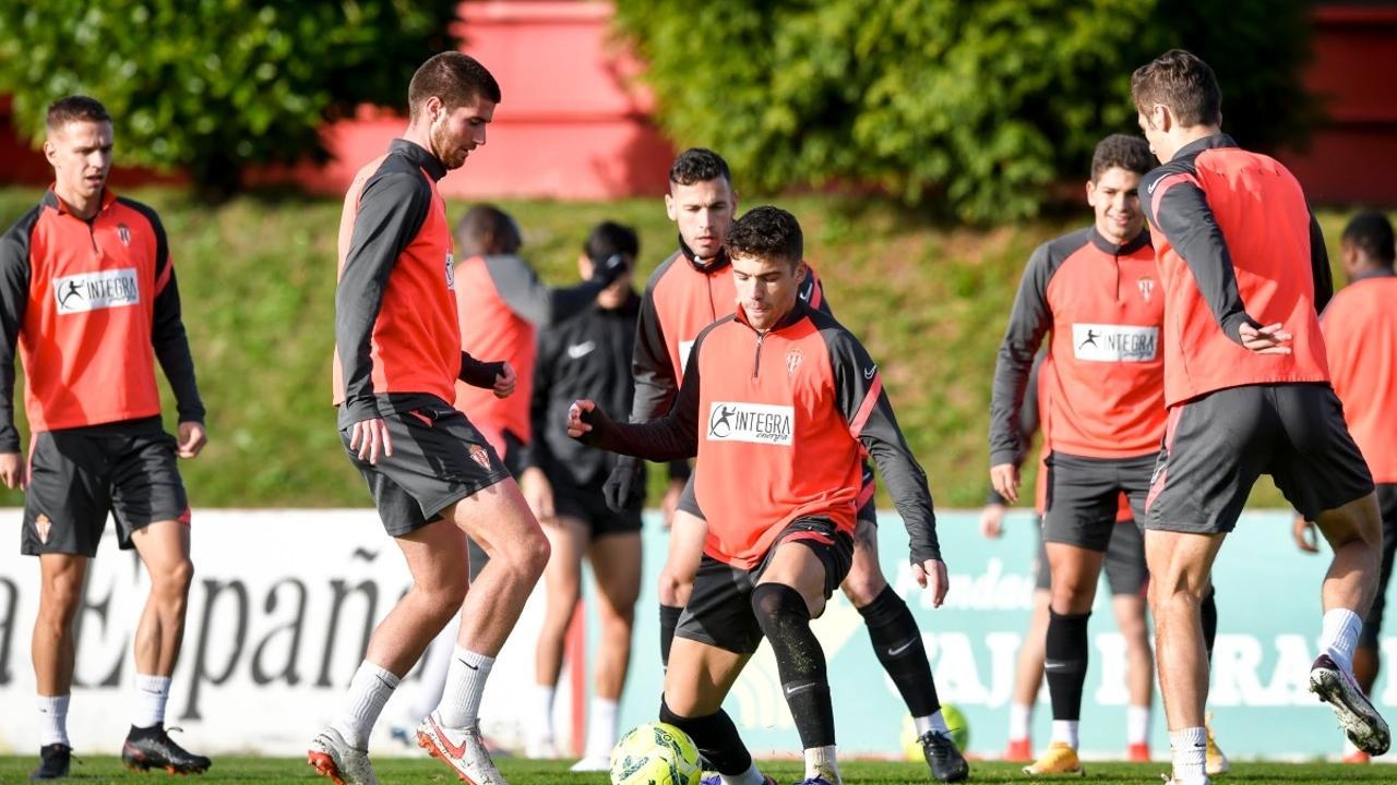 Entrenamiento del Sporting de Gijón