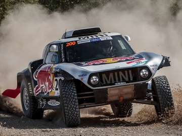 Carlos Sainz, a bordo del Mini