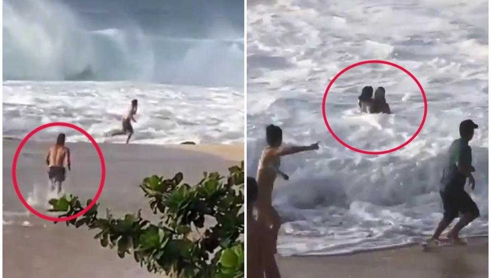 Un surfista salva la vida a una mujer