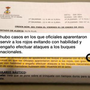 Documento difundido por el jefe de Estudios de la Estación Naval de Ferrol destituido