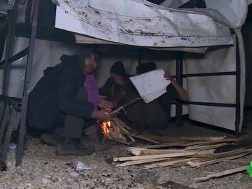 Imagen de refugiados en Bosnia