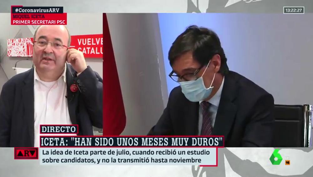 Miquel Iceta, en ARV