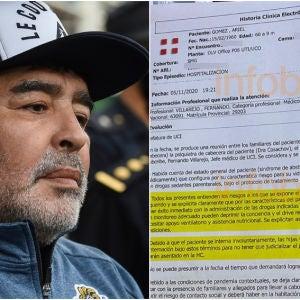 Sale a la luz la historia clínica de Maradona
