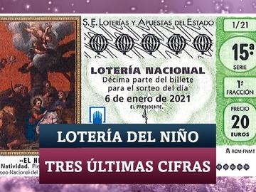 Tres últimas cifras de la Lotería del Niño 2021