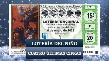 Cuatro últimas cifras de la Lotería del Niño 2021