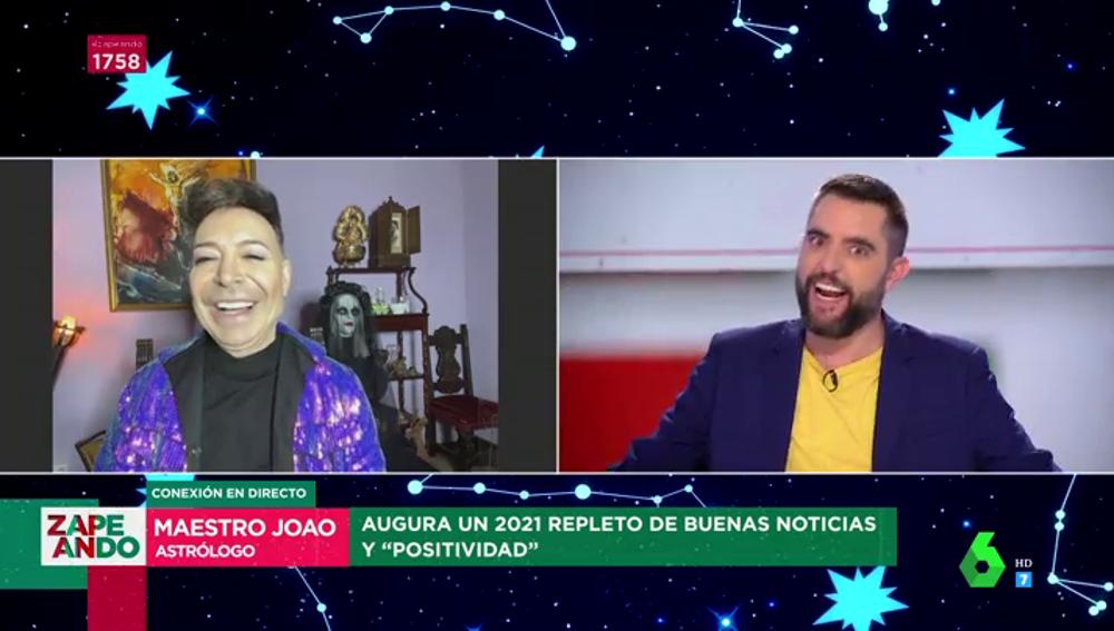 La reacción de Dani Mateo cuando el Maestro Joao el predice un embarazo en 2021: ¿se convertirá en papá?