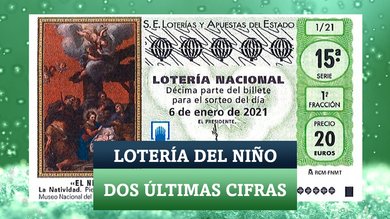 Dos últimas cifras de la Lotería del Niño 2021