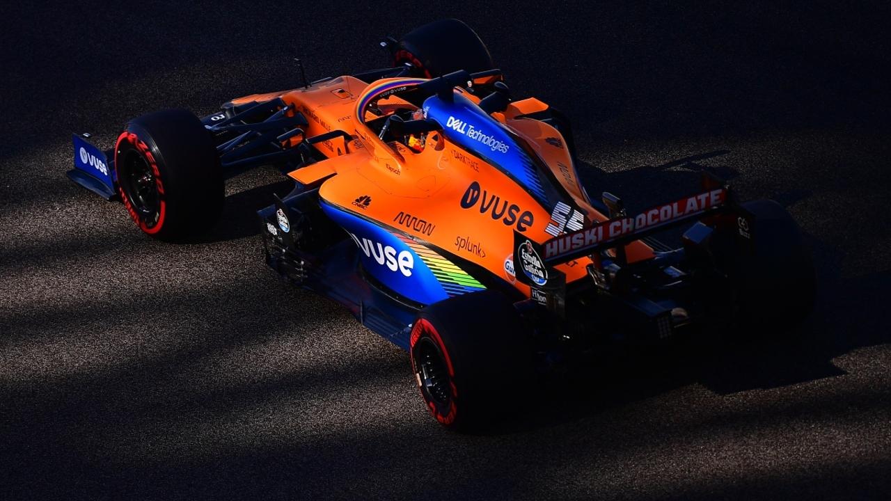 Carlos Sainz, con el McLaren