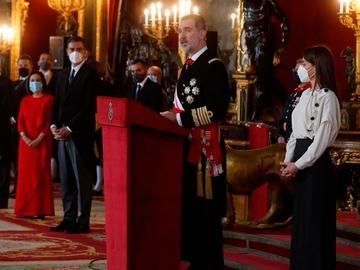 El rey Felipe VI en la Pascua Militar