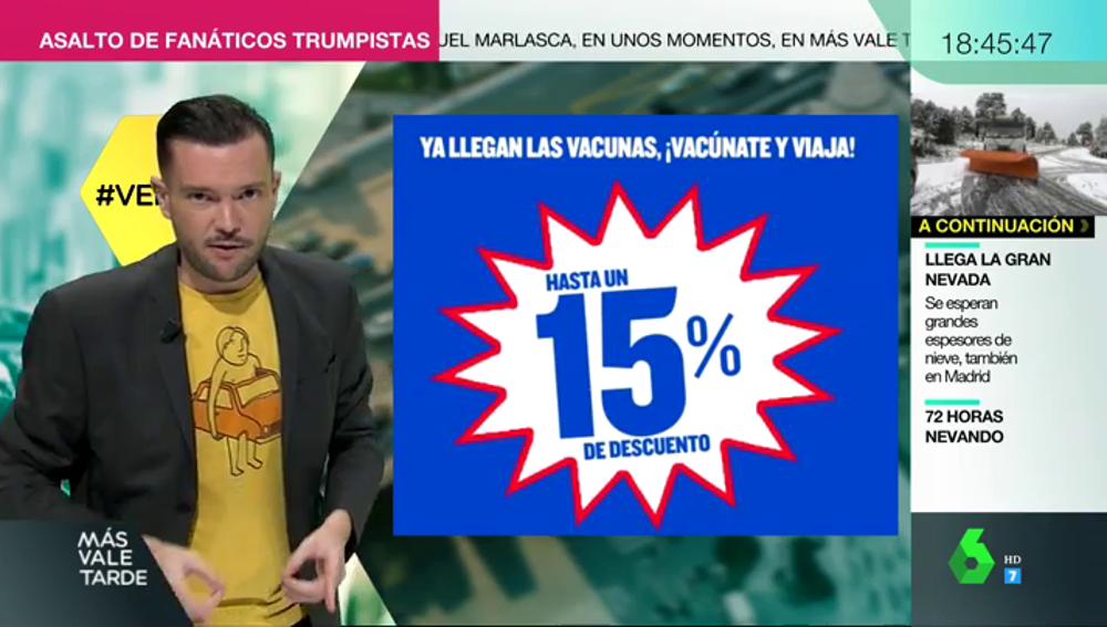 """Polémica campaña publicitaria de una reconocida aerolínea: """"Reserva para el verano. Ya llegan las vacunas"""""""