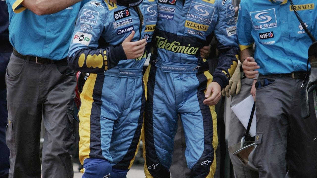 Fernando Alonso y Jarno Trulli, compañero en Renault