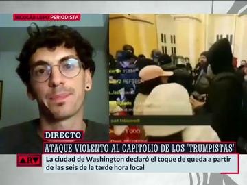 """Habla un periodista que vivió el asalto al Capitolio: """"Rompieron los cordones policiales porque el despliegue era insuficiente"""""""