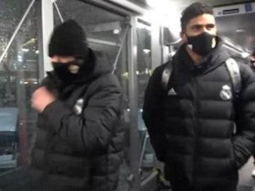 Los jugadores del Real Madrid, atrapados por la borrasca Filomena